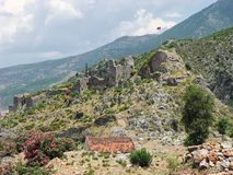 Fortress of the Knights of the Ioannites near Fethiye XV centur. Y. Turkey Stock Photos