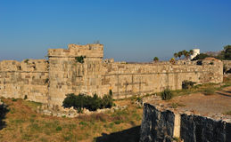 Fortress of the Knights of Saint John of Rhodes Stock Photography