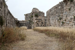 Fortress of the Knights of Saint John of Rhodes on Stock Image