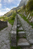 Fortress of Kotor. The stone road up to the fortress of Kotor Royalty Free Stock Photography