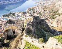 Fortress in Kotor. A view to Kotor Royalty Free Stock Photo