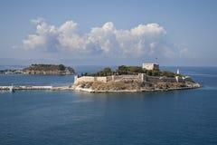 Island fortress in Kusadasi royalty free stock photos