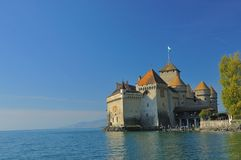 Fortress on lake geneva Royalty Free Stock Image