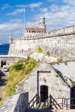 The fortress and lighthouse of El Morro in Havana Royalty Free Stock Image