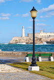 The fortress and lighthouse of El Morro in Havana Royalty Free Stock Photo