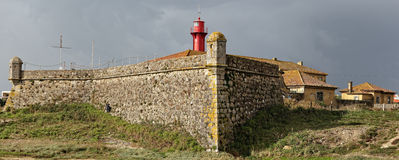 Fortress and lighthouse of Esposende Royalty Free Stock Image