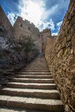Fortress of Lindos, Rhodes, Greece. Fortress of Lindos on Rhodes island, Greece stock images