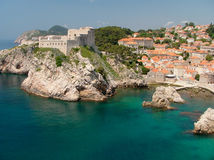 Fortress Lovrijenac. Which guards the northern side of Dubrovnik Stock Images