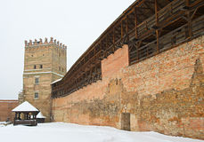 Fortress in Lutsk, Ukraine. Medieval fortress in Lutsk, Ukraine, in winter Royalty Free Stock Photography