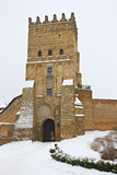 Fortress in Lutsk, Ukraine. Medieval fortress in Lutsk, Ukraine, in winter Stock Images