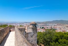 The fortress in Malaga. Stock Images