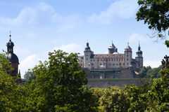 Fortress Marienberg. View at Fortress Marienberg in Wuerzburg,Franconia, Germany; photographed in June Stock Photos