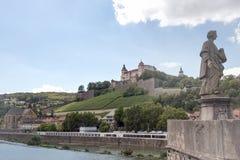 Fortress Marienberg, city of Wuerzburg Stock Photos