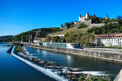 Fortress Marienberg and River Main in Wuerzburg, Germany Stock Photo