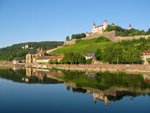 Fortress Marienberg in Wurzburg royalty free stock image