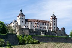 Fortress Marienberg in Wurzburg in Bavaria, Germany royalty free stock photos