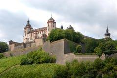 Fortress Marienberg Wurzburg in Bavaria (Germany) side Royalty Free Stock Photos