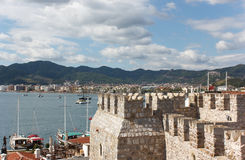 Fortress and Marmaris Marina Royalty Free Stock Photo
