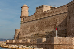 Fortress in Marseille. The photo shows the Fort St. John in Marseille, Frtance Stock Photo