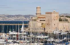 Fortress in Marseille Royalty Free Stock Photography