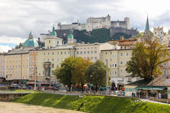 Fortress and medieval building.Salzburg. Austria Royalty Free Stock Photo