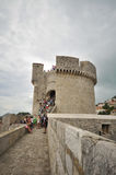 Fortress Minceta, Dubrovnik old town city walls Royalty Free Stock Images