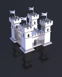 Fortress miniature silver castle isolated Royalty Free Stock Images