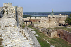 Fortress and moat Stock Images