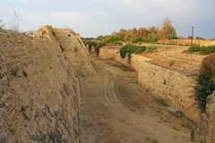 Fortress Moat in Caesarea Maritima National Park Royalty Free Stock Photography