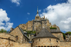 The fortress Mont Saint Michel - France Stock Images