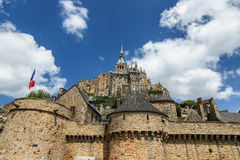 The fortress Mont Saint Michel - France Stock Photo