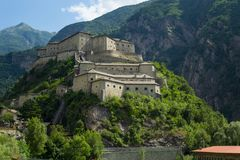 The fortress in the mountain royalty free stock photography