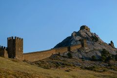 Fortress on the mountain. royalty free stock photo