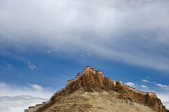 Fortress on mountain in Tibet Stock Photos