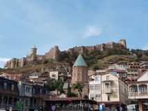 Fortress Narikala. The charm of the old city of Tbilisi. Georgia. stock photos