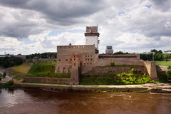 Fortress of Narva Stock Photo
