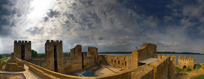 Fortress near Smederevo, Serbia Royalty Free Stock Photo