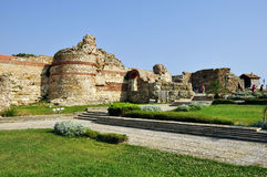 Fortress in Nessebar. NESSEBAR, BULGARIA - JULY, 16:Fortification walls Ancient fortress in Nessebar, Bulgaria, July, 16 2012. UNESCO World Heritage Site Royalty Free Stock Image