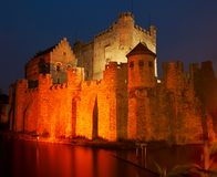 Fortress by night Stock Image