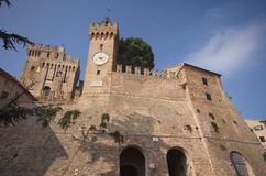 Fortress of Offagna, Marche, Italy Royalty Free Stock Image