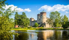 Fortress Olavinlinna Stock Images
