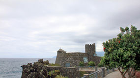 The fortress. The old fortress on the coast. Madeira Island stock images