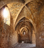 In fortress. Old crusaders fortress inside (Caesarea, Israel Stock Photography