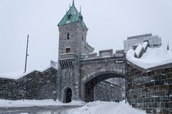 Fortress of Old Quebec City Stock Image
