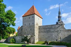 Fortress of old Tallinn. Royalty Free Stock Image