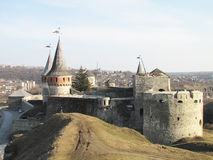 Fortress in the old town Kamenetz-Podolsk in Ukraine. The fortress in the old town Kamenetz-Podolsk in Ukraine Stock Photos
