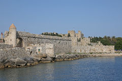 Fortress of the old town of Rhodes, Greece Royalty Free Stock Photos