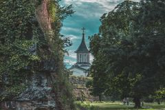 Old fortress. Fortress in Oradea, Romania stock photos