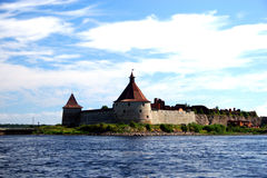 Fortress Oreshek Shlisselburg. Autotravel to north of Russia Stock Images