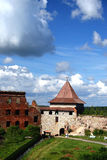 Fortress Oreshek Shlisselburg. Autotravel to north of Russia Royalty Free Stock Photos